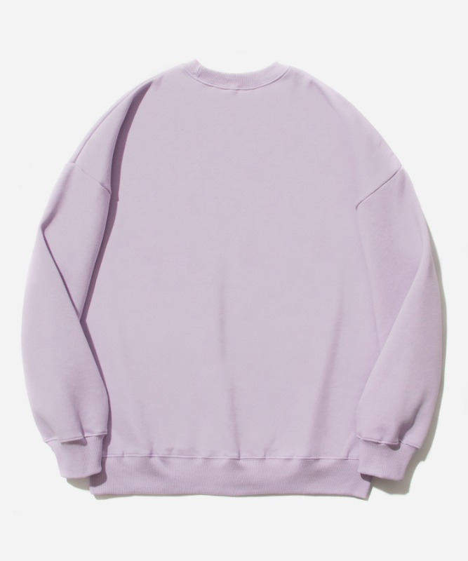 SP Arch Logo Crew Neck-Light Purple