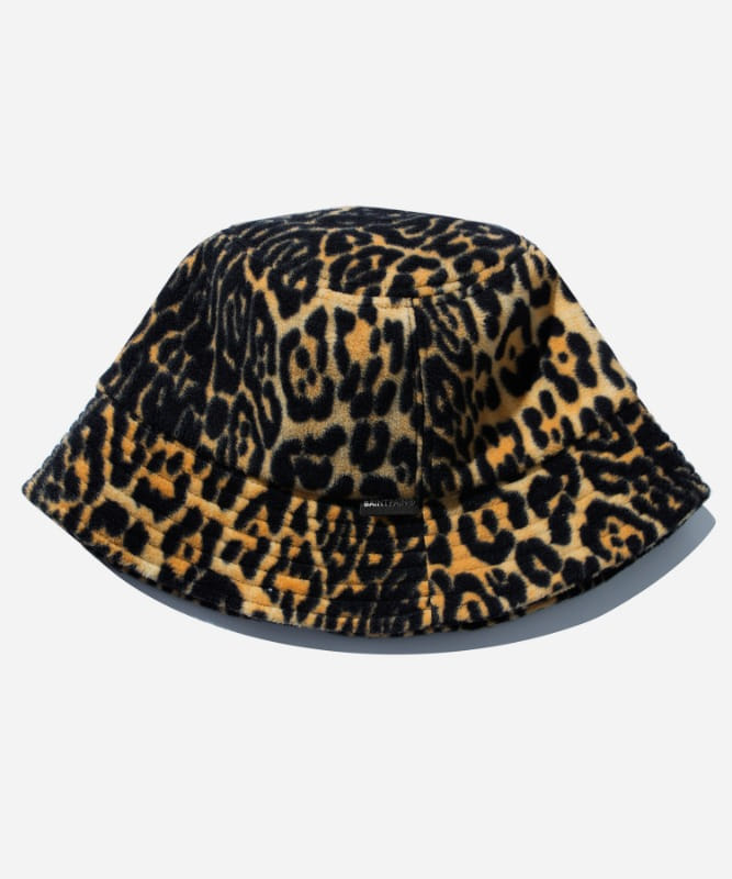 SP Leopard Fleece Bucket Hat-Yellow