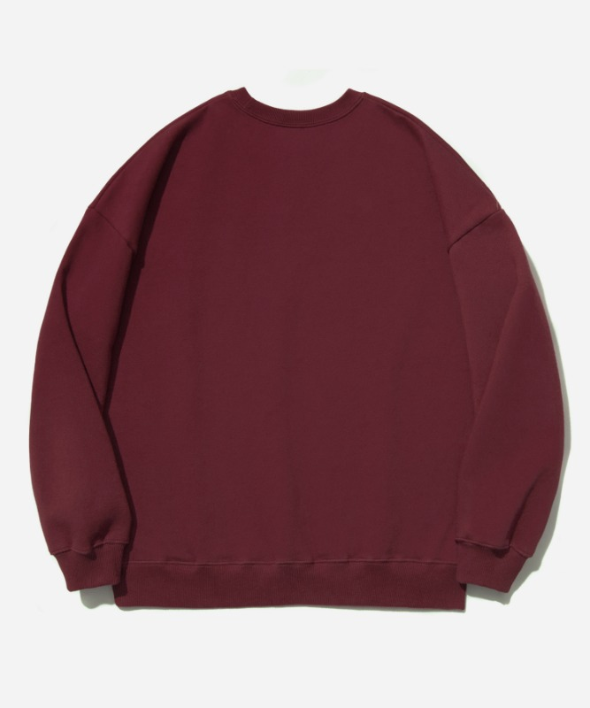 SP OG Logo Crew Neck-Wine