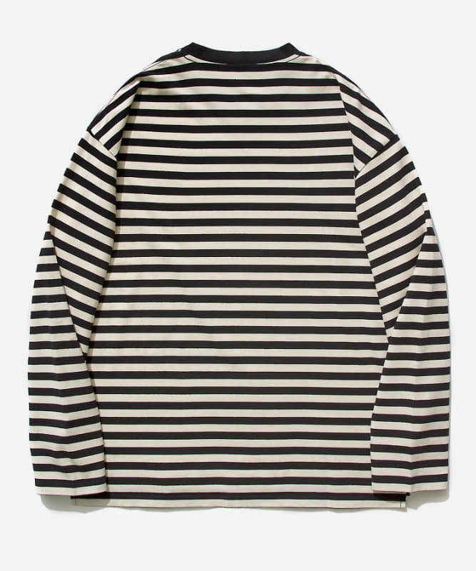 SP Basic Stripe Long Sleeve-Black