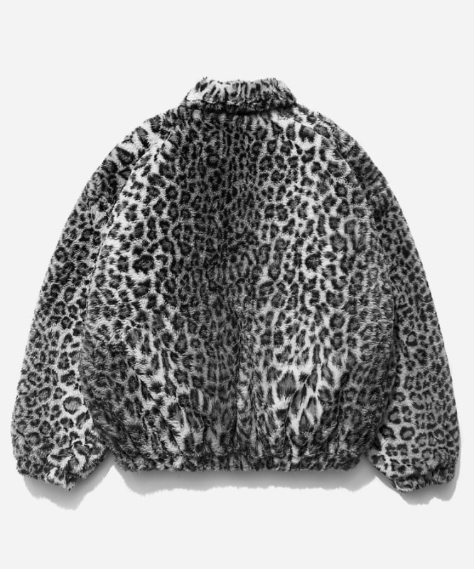 SP Gotha Fur Jacket-Gray Leopard
