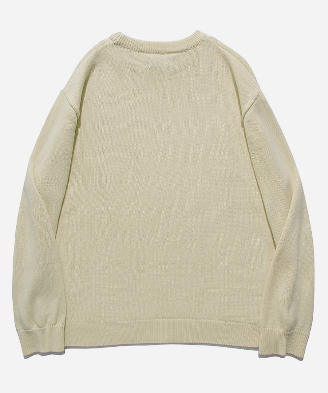 SP Beileve Semi Over Knit-Beige
