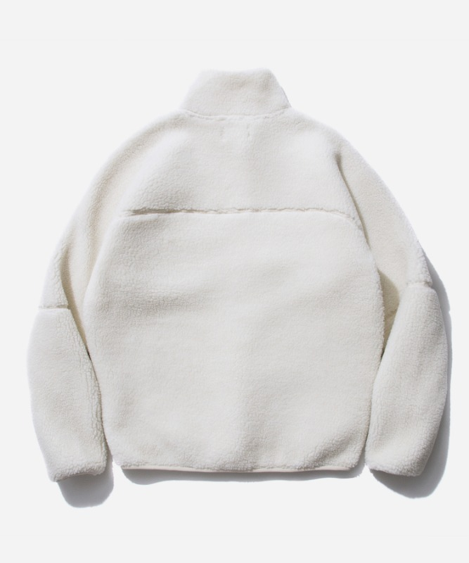 SP Boa Fleece Zip Up Jacket-White