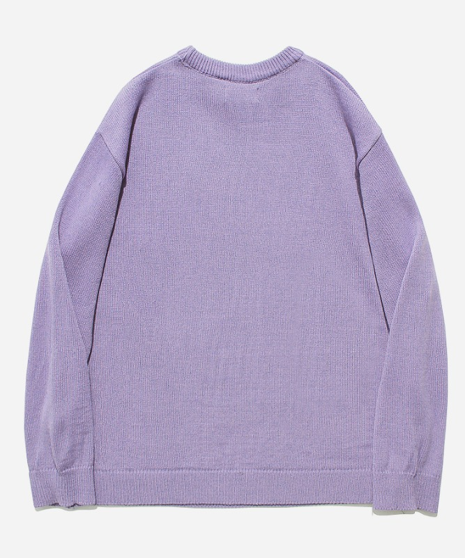 SP Beileve Semi Over Knit-Light Purple