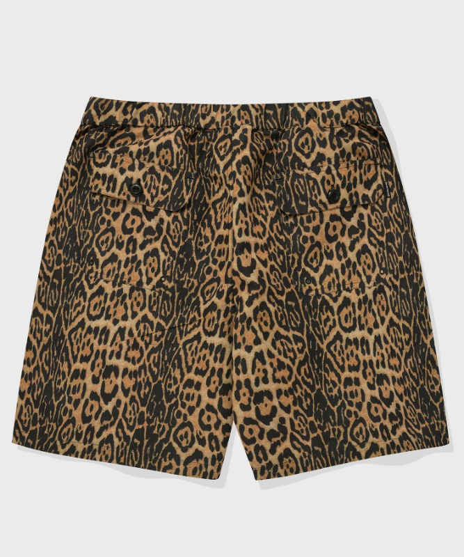 SP FATIGUE SHORT PANTS-YELLOW LEOPARD
