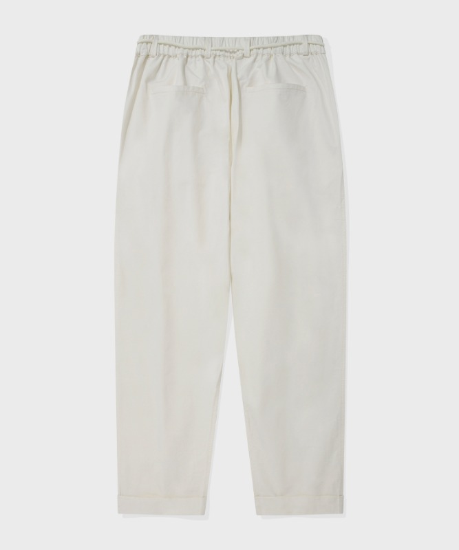 SP TWO TUCK BELT PANTS-IVORY