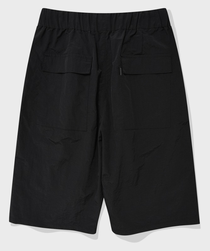 SP WIDE SHORT PANTS-BLACK