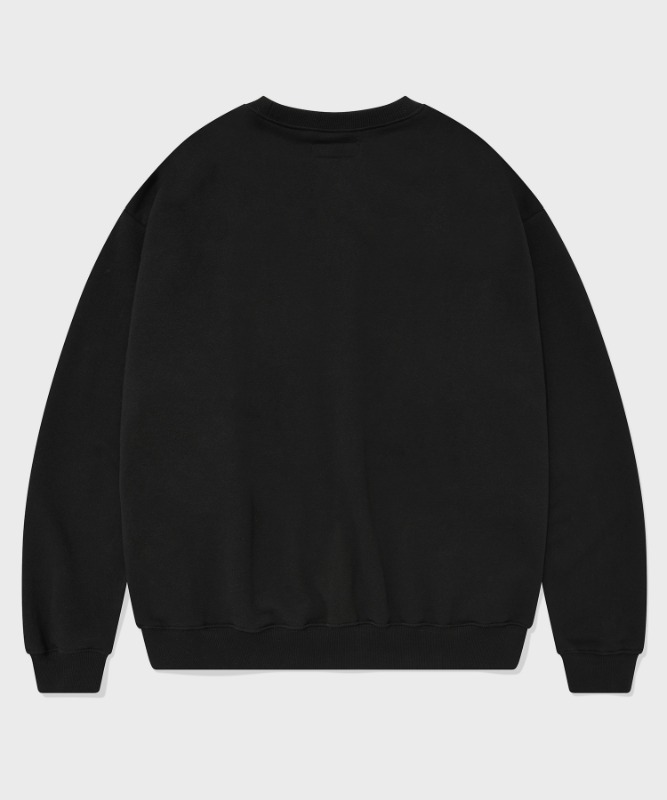 SP ARCH LOGO CREW NECK-BLACK