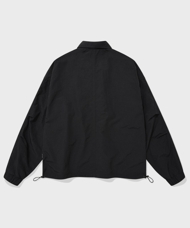 SP NYLON COACH JACKET-BLACK
