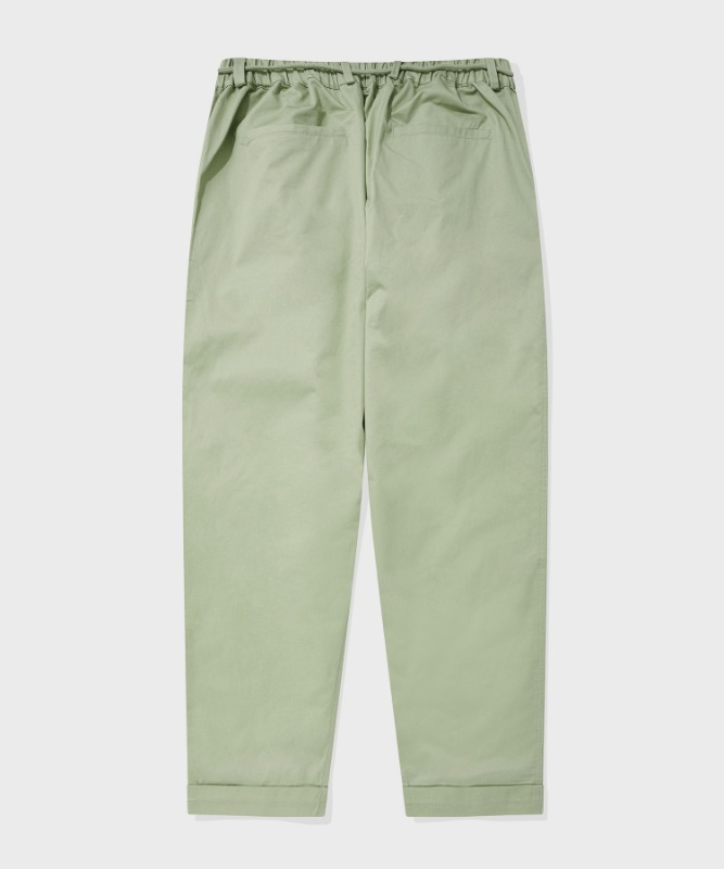 SP TWO TUCK BELT PANTS-LIGHT KHAKI