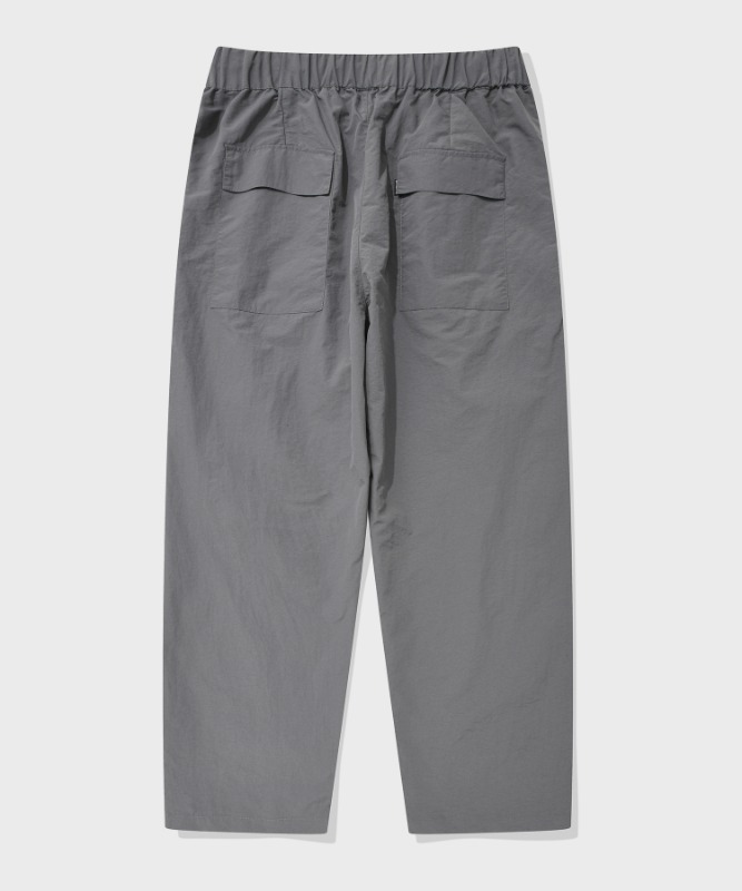 SP WIDE NYLON PANTS-GRAY