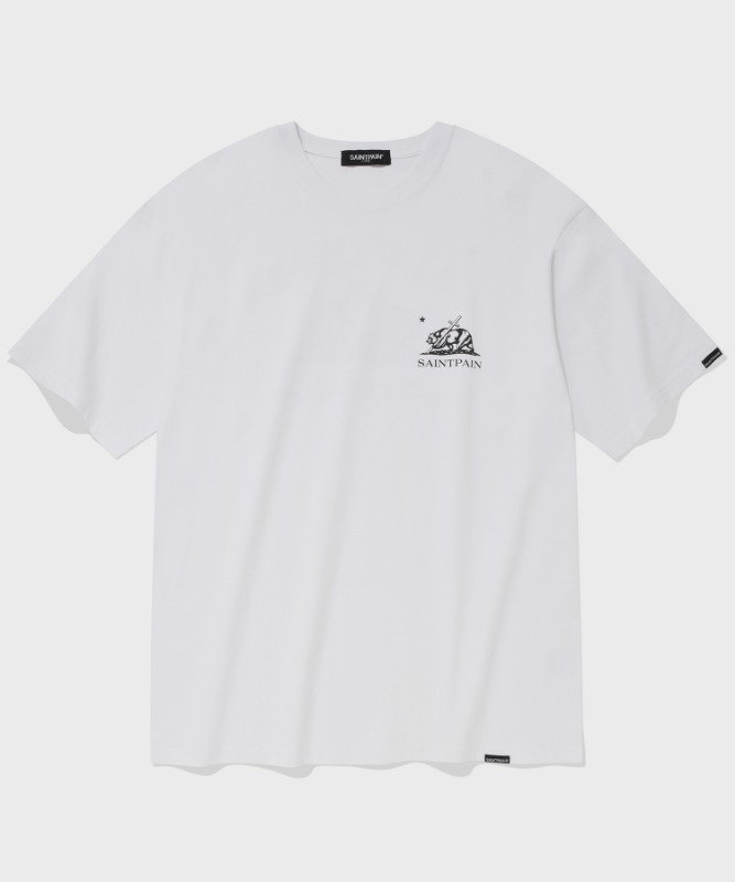 SP CALIF BEAR LOGO T-WHITE