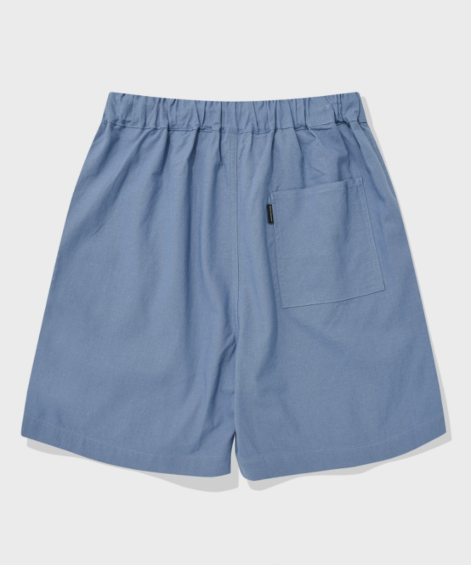 SP BASIC LINEN SHORT PANTS-BLUE
