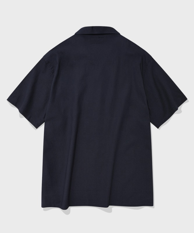 SP LOOSE FIT LINEN SHIRTS-NAVY