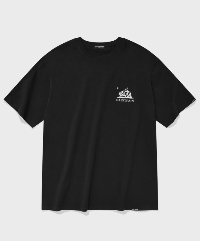 SP CALIF BEAR LOGO T-BLACK