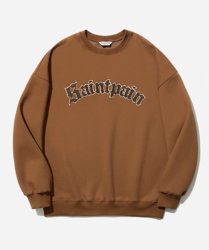 SP Arch Logo Crew Neck-Brown