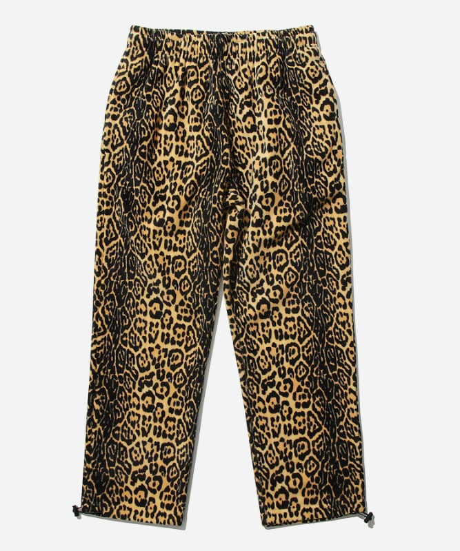 SP Leopard Fleece Pants-Yellow