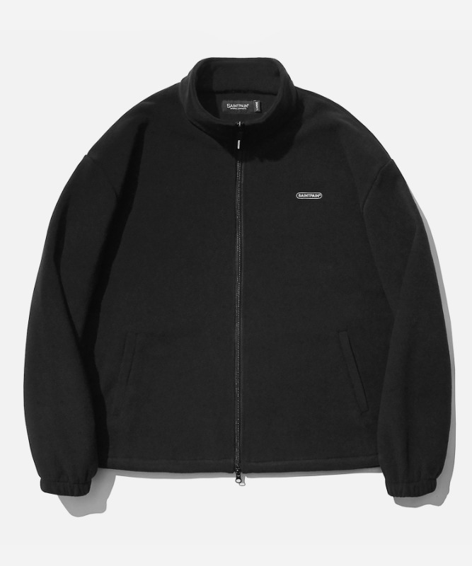 SP Fleece Zip Up Jacket-Black