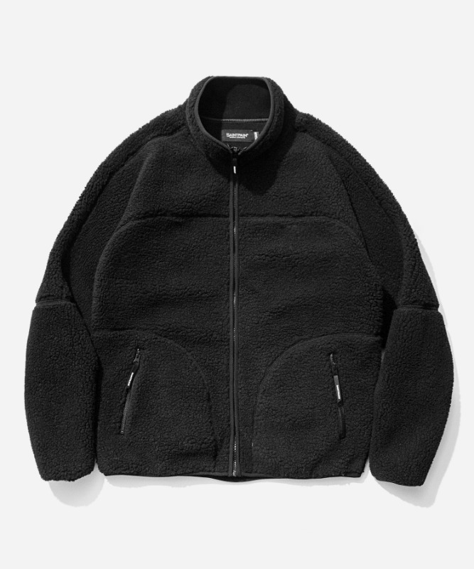 SP Boa Fleece Zip Up Jacket-Black