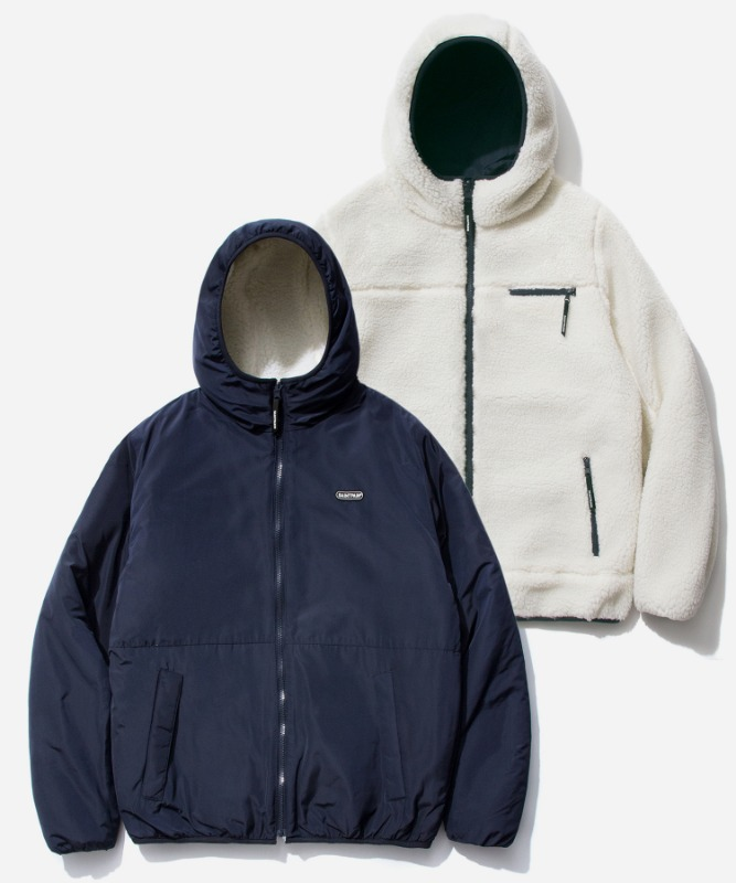 SP Reversible Boa Hood Jacket-White