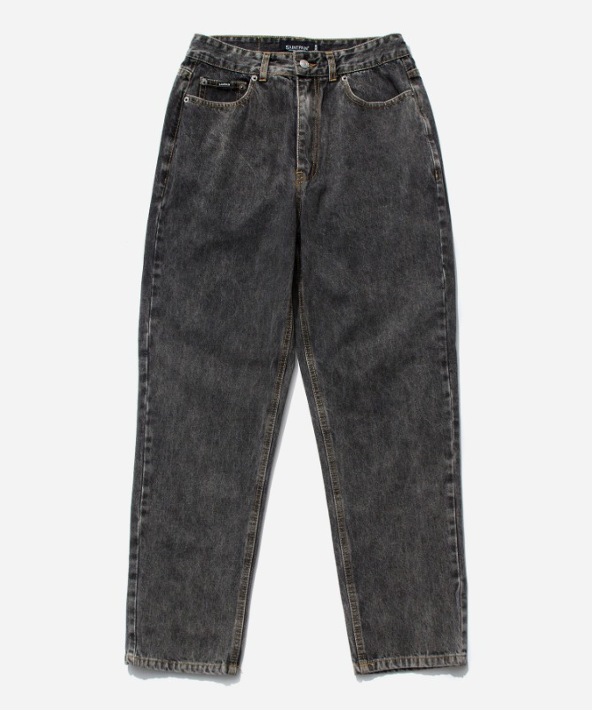 SP Washing Wide Straight Denim-Black