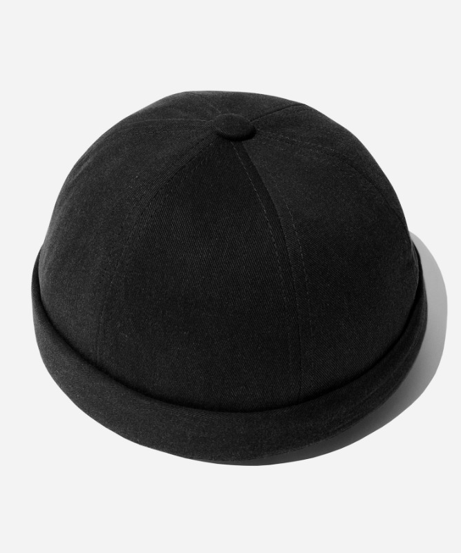 SP Pigment Washing Watch Cap-Black