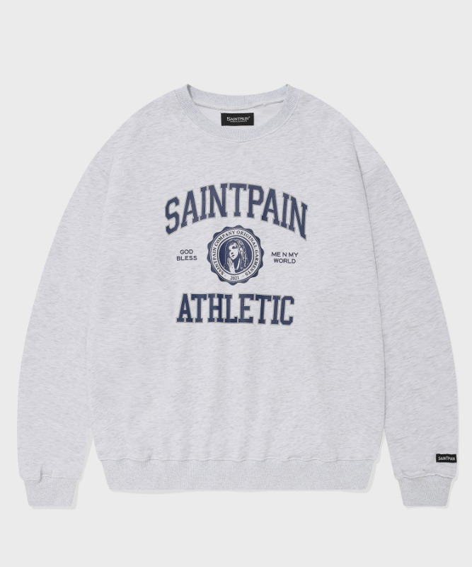 SP UNIVERSITY LOGO CREWNECK-ASH MELANGE