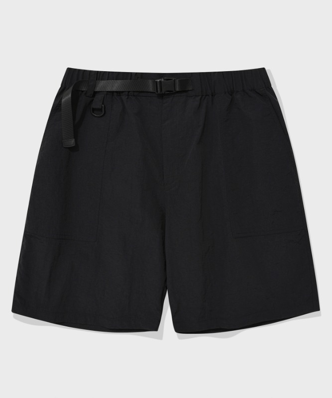 SP FATIGUE SHORT PANTS-BLACK