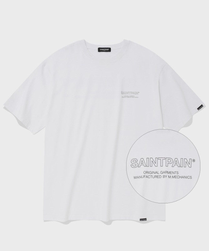 SP OUT LINE LOGO T-WHITE