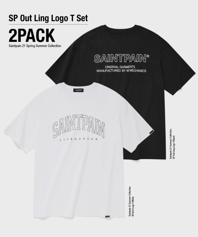 [2-PACK] SP OUTLINE LOGO T-SHIRTS SET