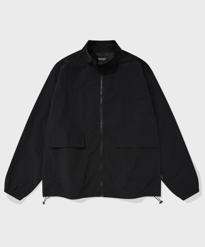 SP TRACK WORK JACKET-BLACK