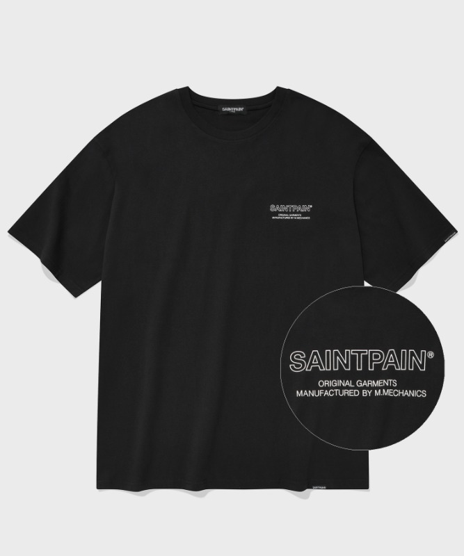 SP OUT LINE LOGO T-BLACK