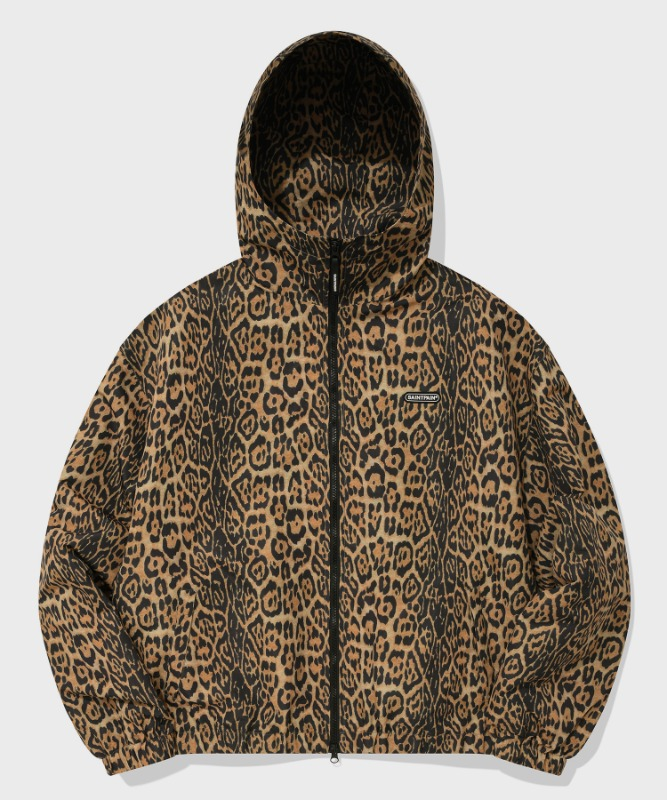 SP HOOD WIND PARKA-YELLOW LEOPARD