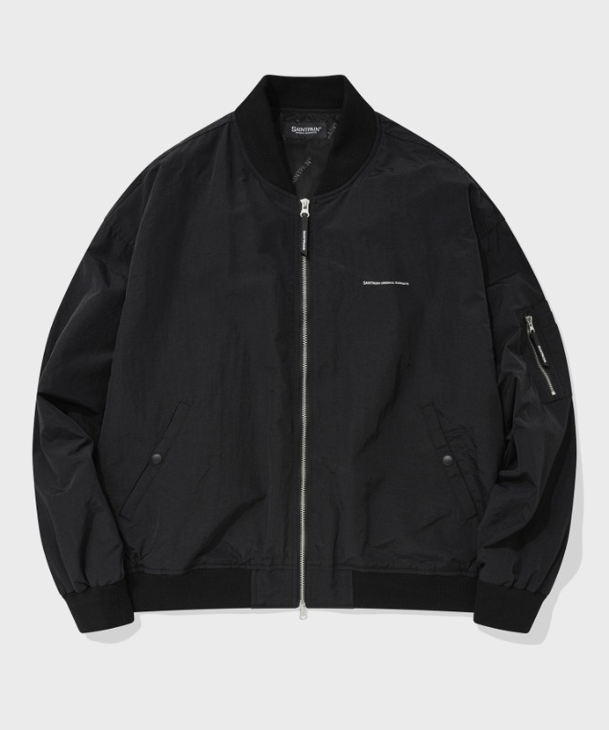 SP MINIMAL MA-1 FLIGHT JACKET-BLACK