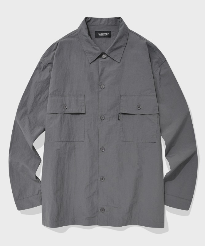 SP MINIMAL WORK SHIRTS-GRAY