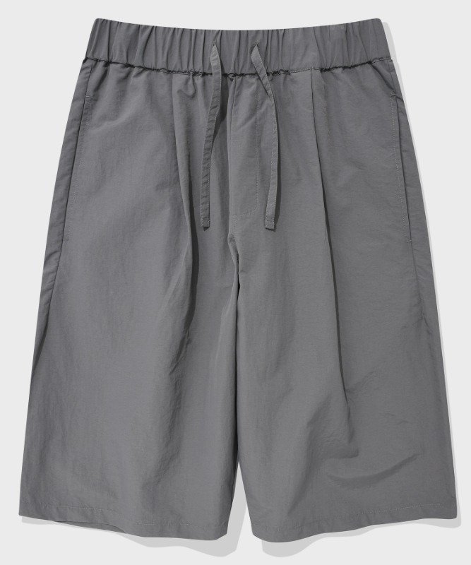 SP WIDE SHORT PANTS-GRAY