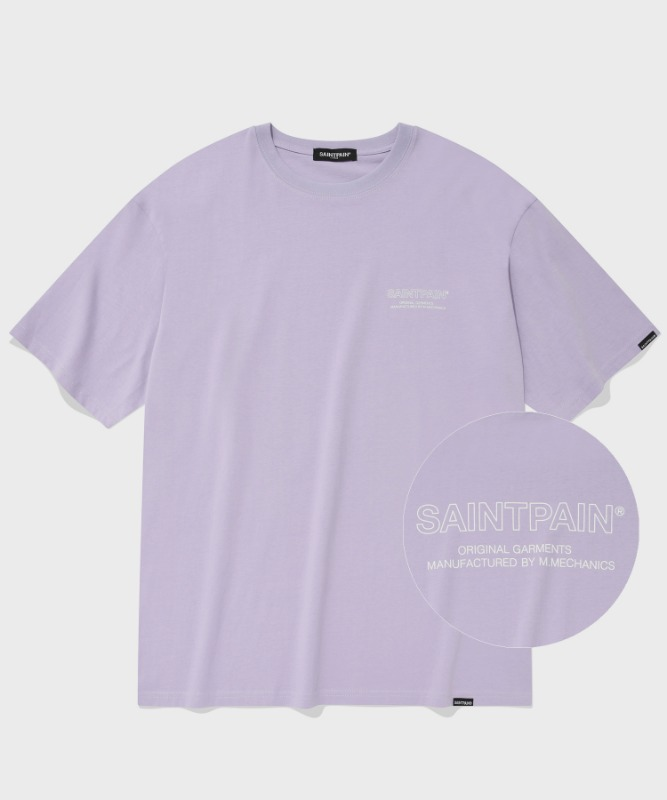 SP OUT LINE LOGO T-LIGHT PURPLE
