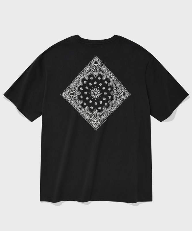 SP PAISLEY T-BLACK