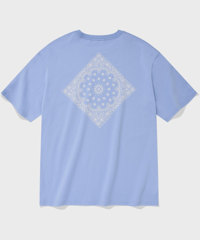 SP PAISLEY T-SKY BLUE