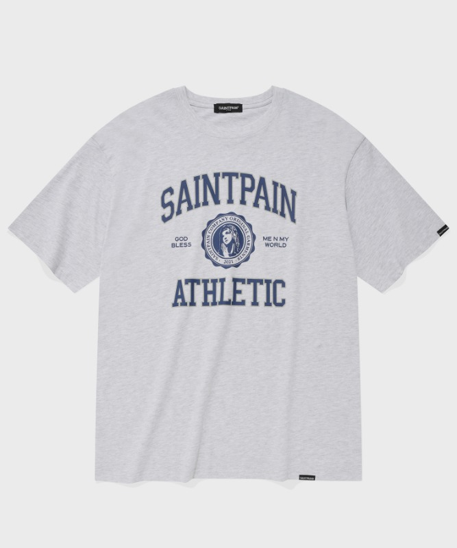 SP UNIVERSITY LOGO T-ASH MELANGE