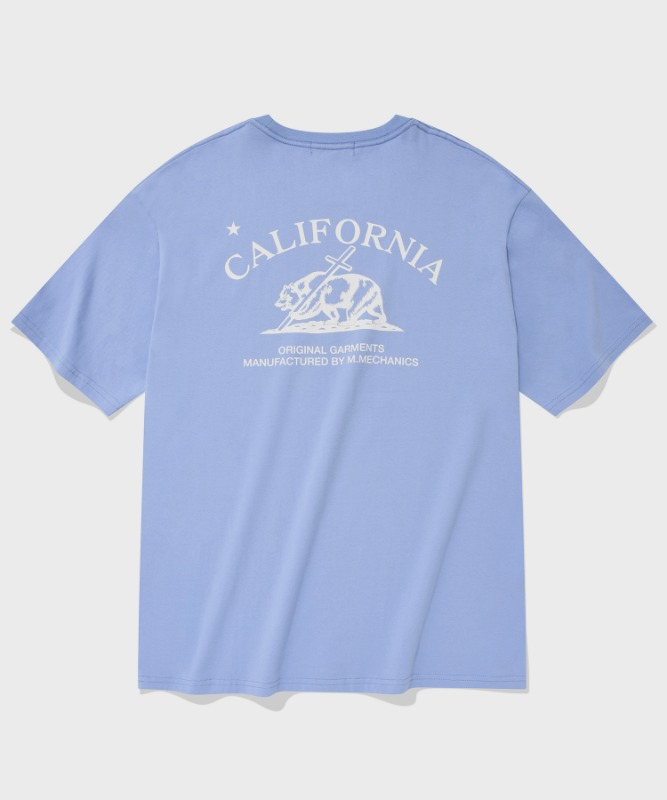 SP CALIF BEAR LOGO T-SKY BLUE