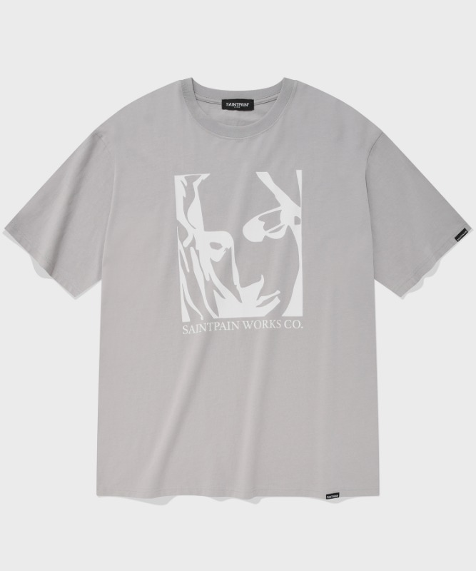 SP OUR LADY OF LOVE T-LIGHT GRAY