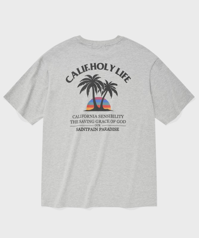 SP MALIBU BEACH T-MELANGE GRAY