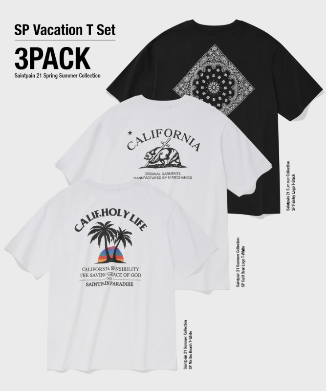 [3-PACK] SP VACATION T-SHIRTS SET
