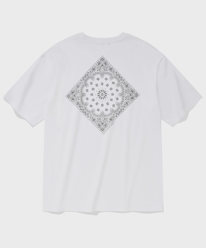 SP PAISLEY T-WHITE