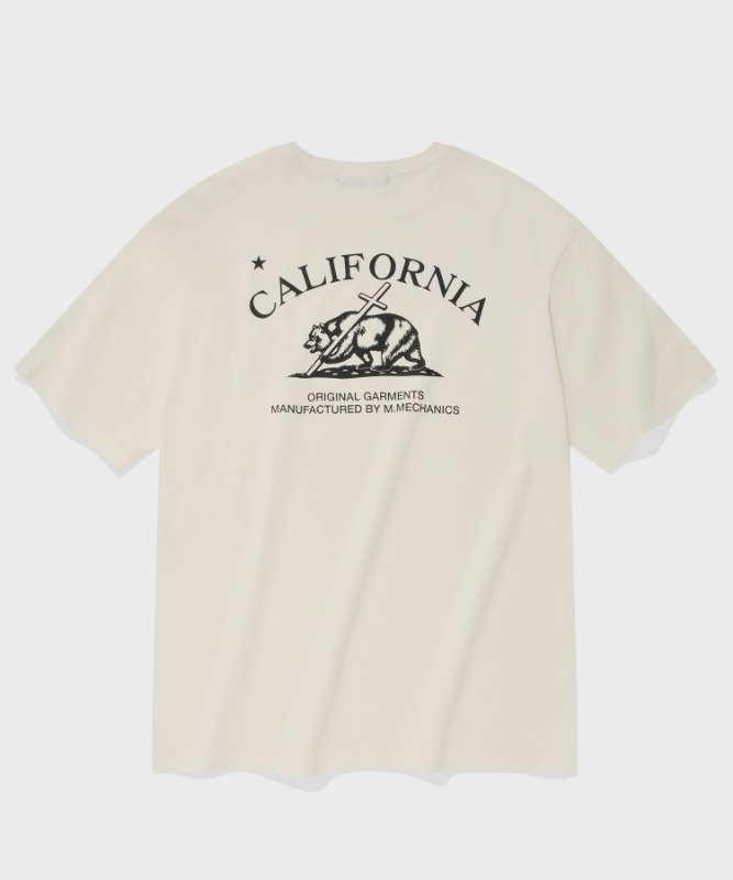 SP CALIF BEAR LOGO T-CREAM