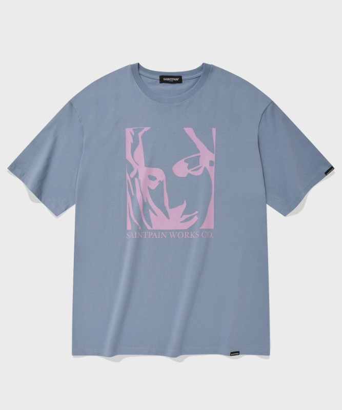 SP OUR LADY OF LOVE T-PASTEL BLUE